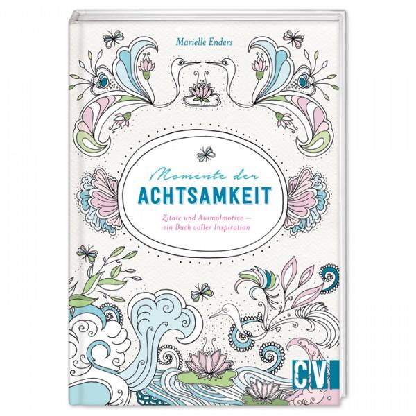Buch - Momente der Achtsamkeit: Zitate & Ausmalmotive 96 Seiten, 13,1x18,7cm, Hardcover