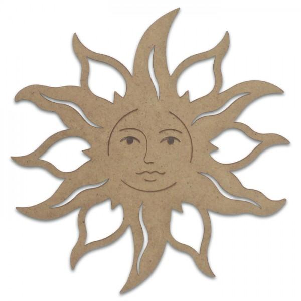 Sonne mit Gesicht MDF 3mm 18x18cm