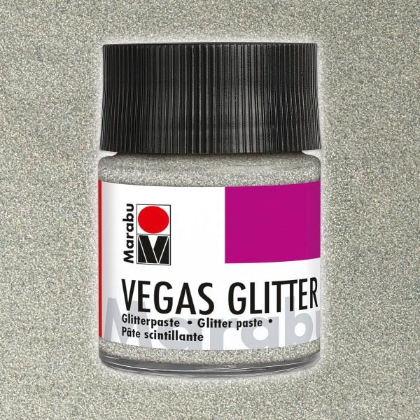Vegas Glitter Effektpaste 50ml silber