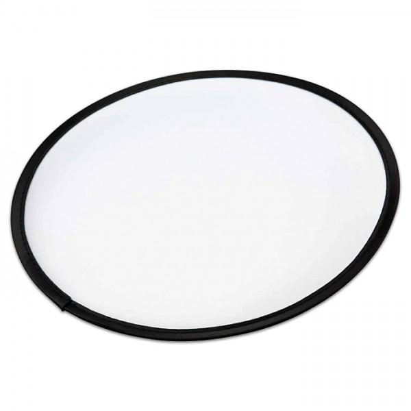 Frisbee 25cm weiß/schwarz Nylon