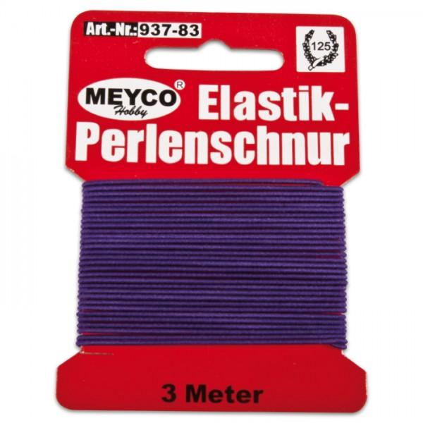 Elastik-Perlenschnur 0,9-1mm 3m violett 20% Polyester, 80% Elastodien (Latex)