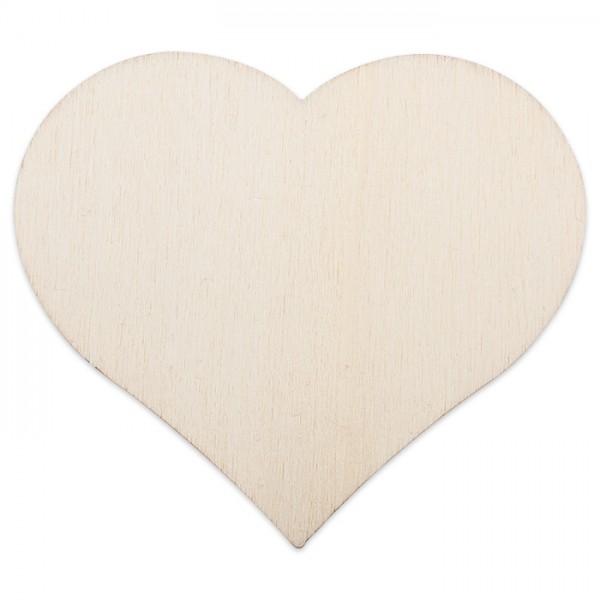 Holzmotiv Herz 3mm stark ca. 6cm natur