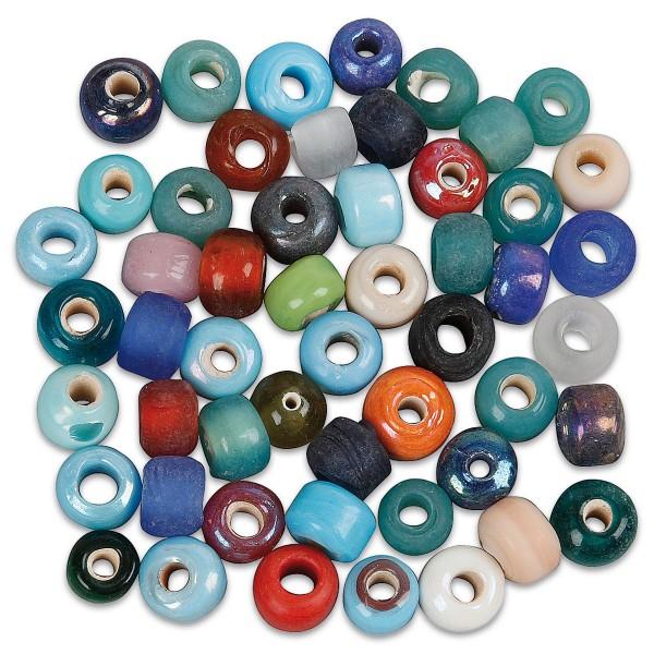 Glasperlen-Mix Ø 9mm ca. 680 St. 500g farblich gemischt, Lochgröße ca. 2,5-3mm