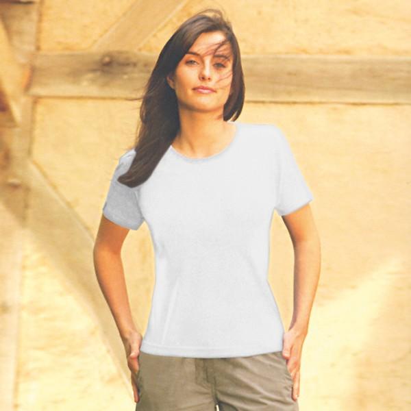Damen-T-Shirt weiß Größe L 100% Baumwolle