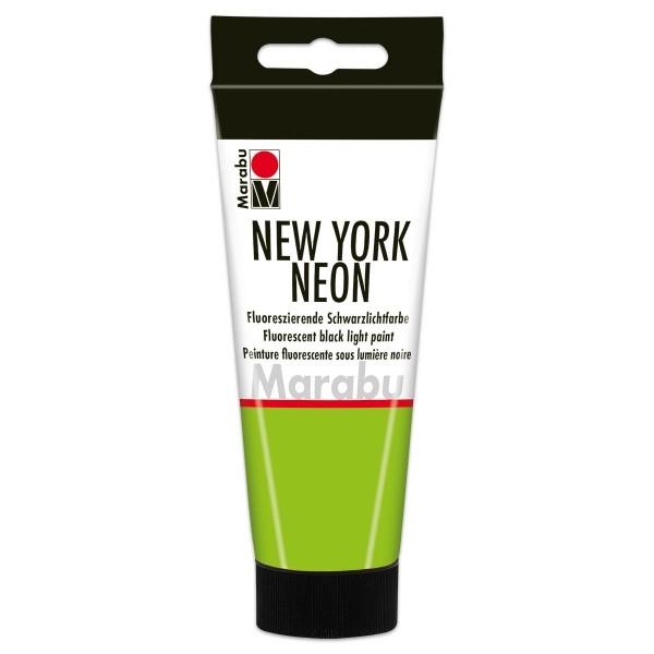 New York Neon Schwarzlichtfarbe 100ml neon-grün fluoreszierende Tagesleuchtfarbe