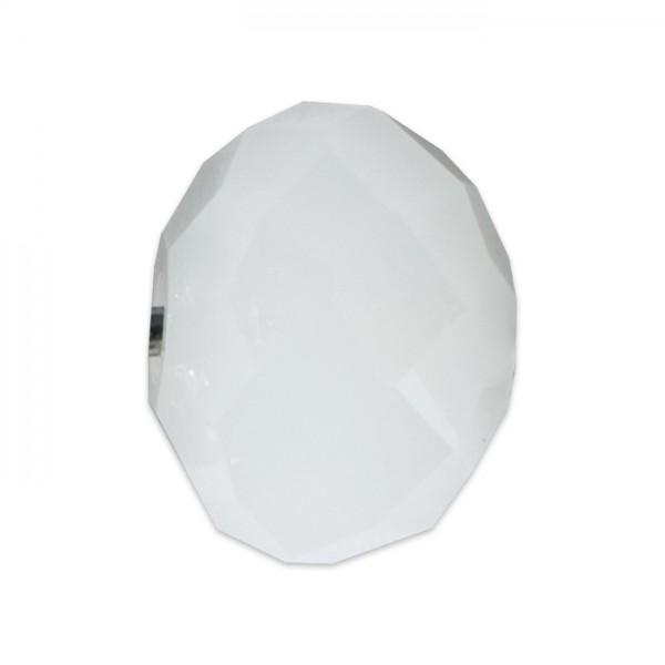 Facettenschliffperlen 6mm 30 St. weiß pastellfarben, feuerpoliert, Glas, Lochgr. ca. 1mm