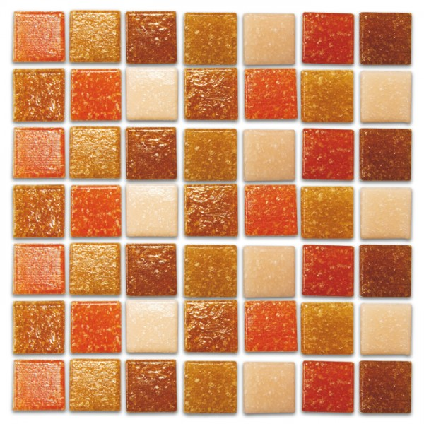 Glasmosaik Joy 10x10x4mm 1kg terra mix ca. 1.450 Steine