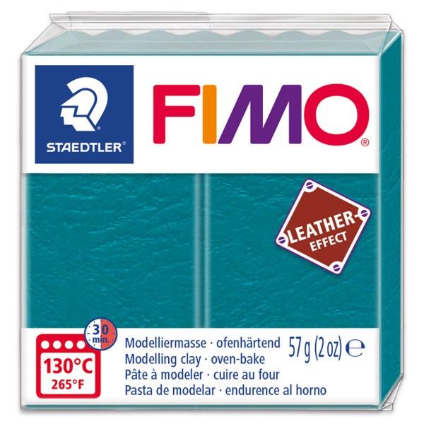 FIMO Leder-Effekt 55x55x15mm 57g lagune ofenhärtende Modelliermasse, leather effect