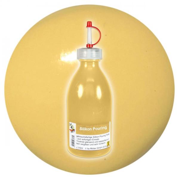 Just4Art Silikon Pouring Farbe 250ml neapelgelb mit Spritzdüse