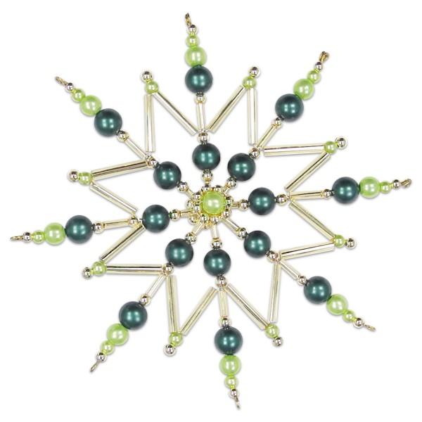 Sternenzauber Bastelset Ø ca. 12cm grün-goldfarben Komplettset