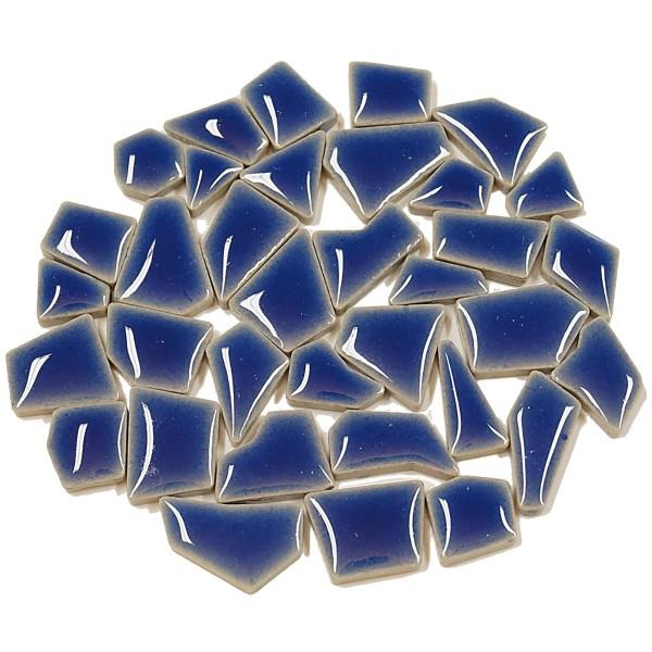 Flip-Keramik Mini 200g ca. 160 Steine kobaltblau 5-20mm, ca. 4mm
