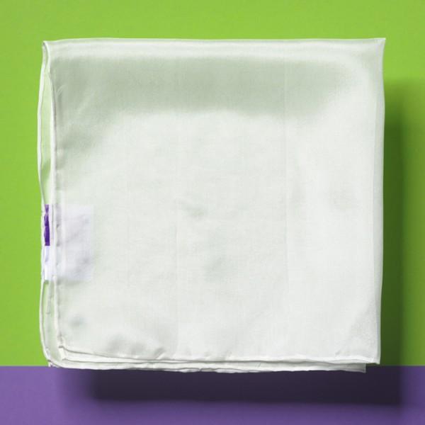 Nickituch Seide Pongé 05 45x45cm naturweiß 100% Seide