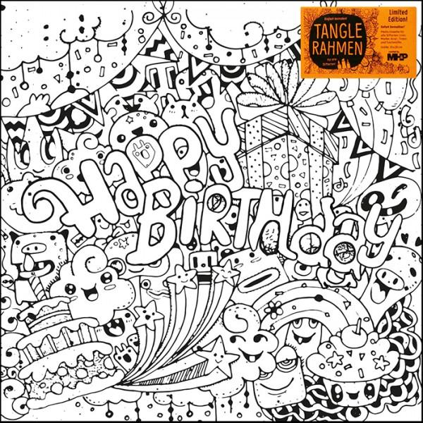 Tangle-Keilrahmen 20x20x2cm Happy Birthday