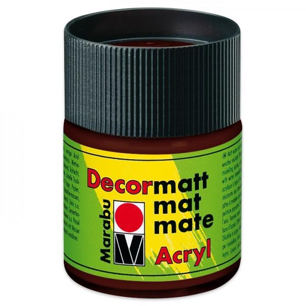 Decorlack Acryl matt 50ml dunkelbraun