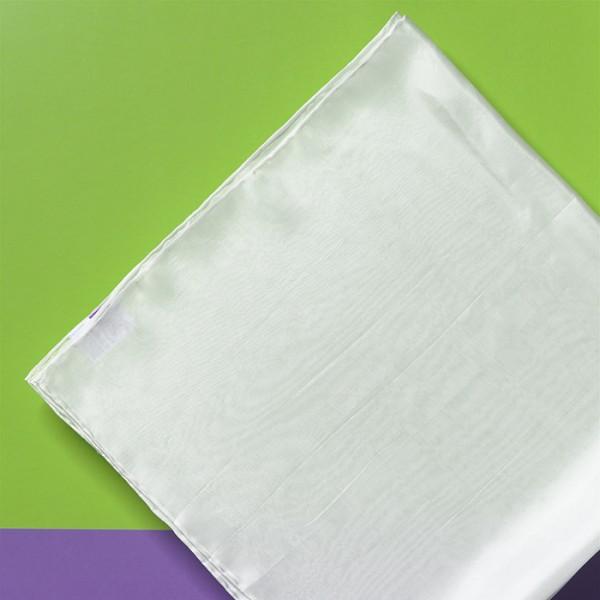 Tuch Seide Pongé 06 90x90cm naturweiß 100% Seide