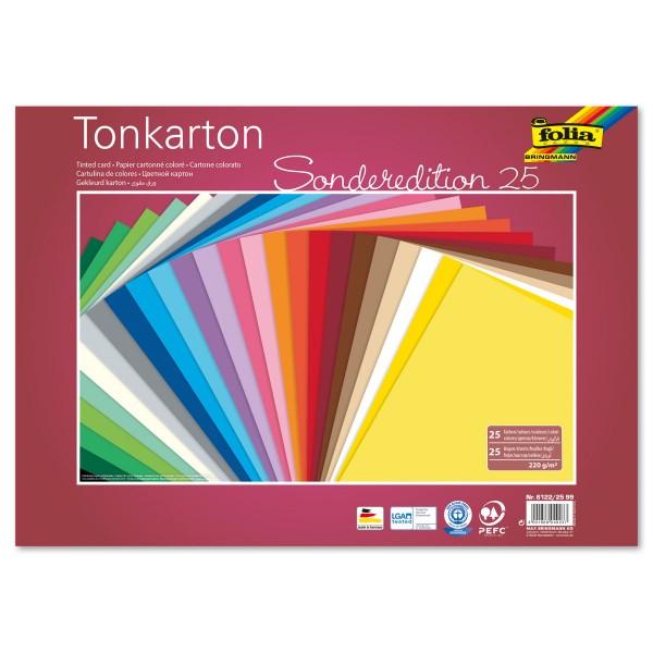 Tonkarton 220g/m² 25x35cm 25 Bl./Farben