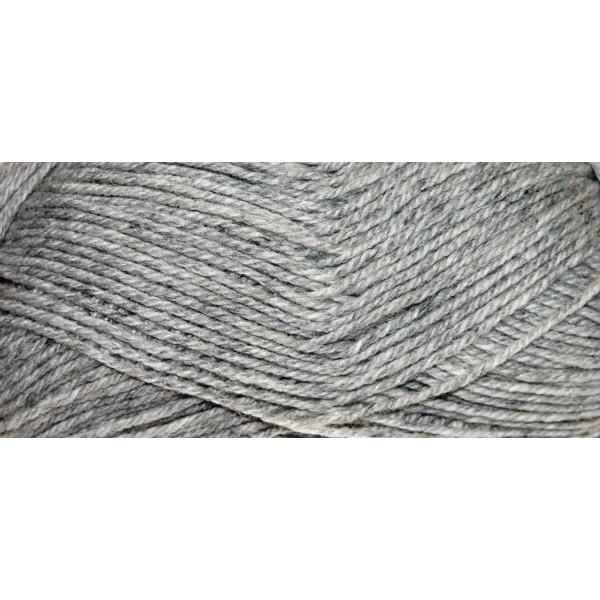 Hauswolle Rustikal ca. 100g silbergrau 60% Wolle, 40% Polyacryl