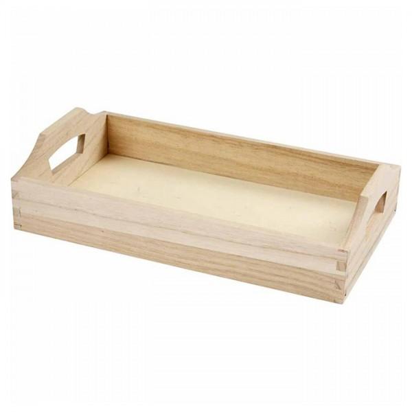 Holztablett 30x17x5cm natur