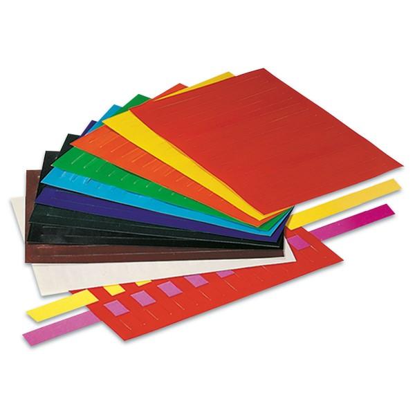 Flechtblätter ungummiert 12x17cm 50 Paar bunt 130g/m², Buntpapier, Schnittbreite 10mm