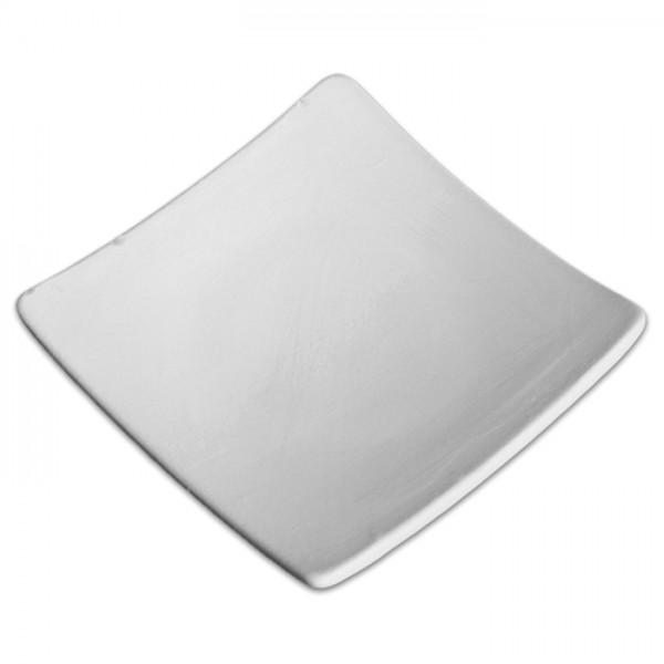 Asia Teller Rohkeramik 12x12cm weiß brennbar bis 1.050°C