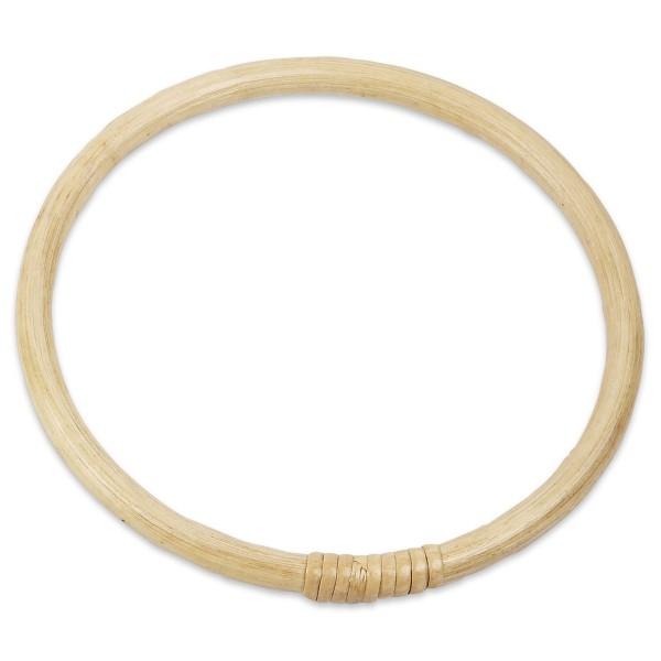 Taschengriff heller Bambus 17cm rund, leicht lackiert