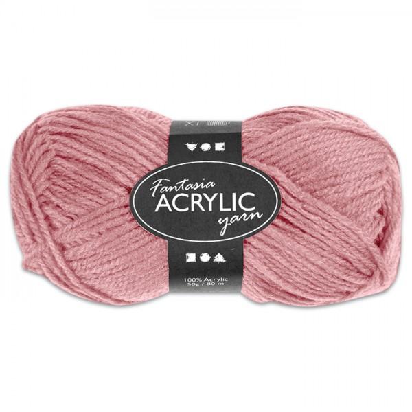 Fantasia Acryl-Wolle 50g hellrot 100% Polyacryl, für Nadel Nr. 4