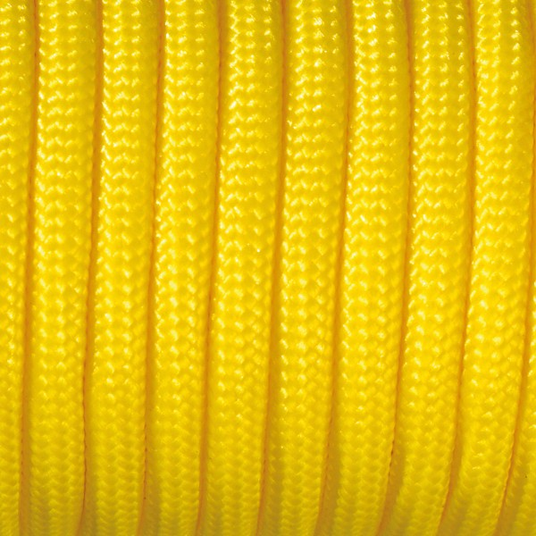 Paracord-Garn rund 2mm 4m gelb Makramee-Knüpfgarn, 60% Polypropylen, 40% Polyester