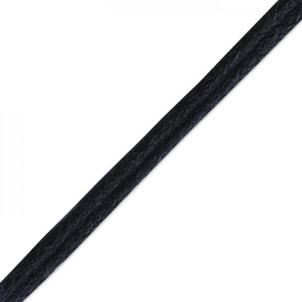 Kordel gewachst 1mm 10m schwarz 50% Baumwolle 50% Polyester
