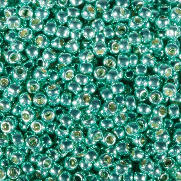 TOHO-Beads Glas 2,2mm 9g grün metallic Lochgr. ca. 0,9mm