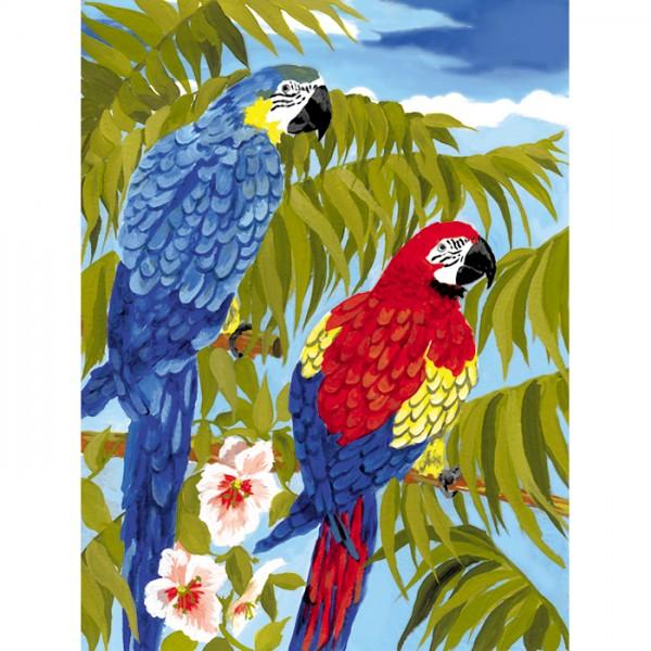 Malen nach Zahlen 22,2x29,8cm Papageien