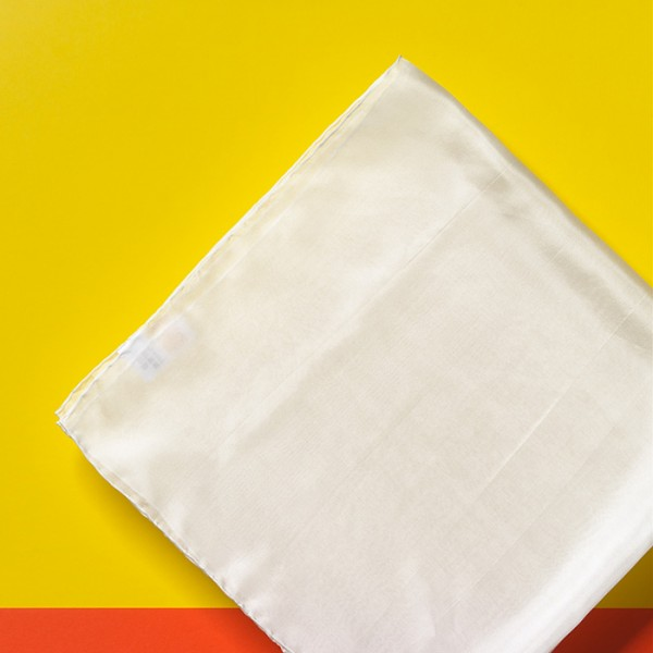 Tücher Seide Pongé 05 ca. 74x74cm 12 St. naturweiß 100% Seide