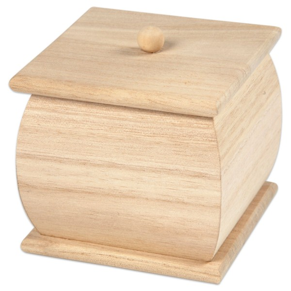 Holzbox mit Deckel mini h7,5cm 8x7,5cm natur