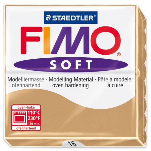 FIMO soft 55x55x15mm 57g sahara ofenhärtende Modelliermasse