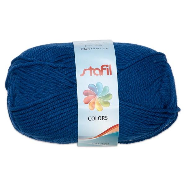 Wolle Colors 50g dunkelblau LL ca.133m, Nadel Nr. 3, 100% Polyacryl