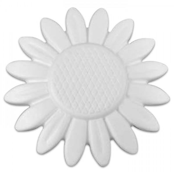 Styropor-Sonnenblume weiß Ø 15cm