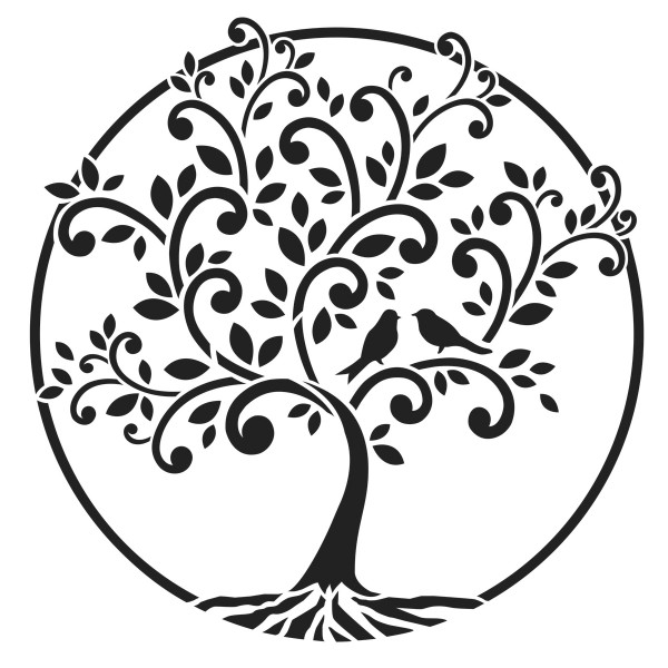 Universal-Schablone DIN A4 Baum des Lebens Kunststoff