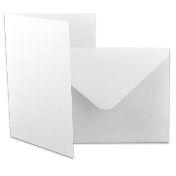 Faltkarten mit Kuverts DIN A6 12 St. weiß 240g/m²