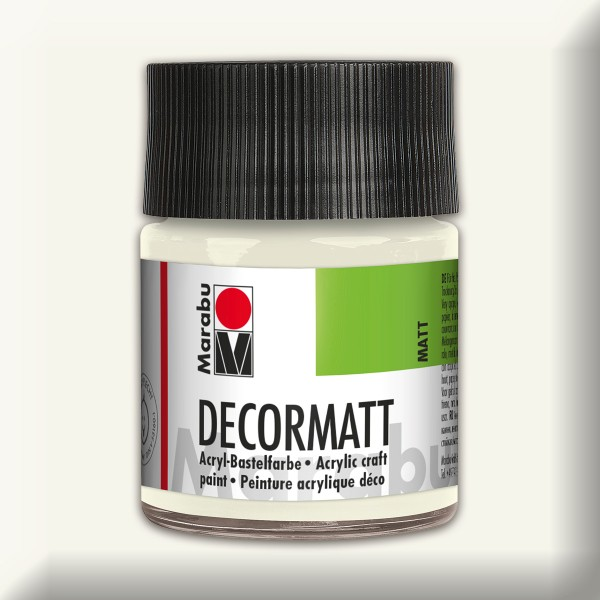 Decorlack Acryl matt 50ml weiß