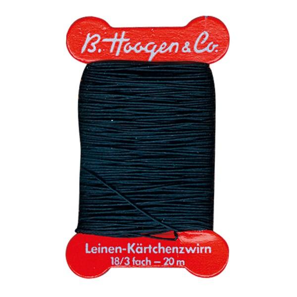 Leinenzwirn 0,7mm 15m schwarz 100% Leinen