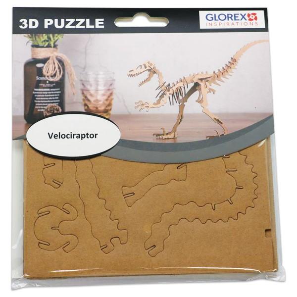 3D-Puzzle Pappe Velociraptor natur ca. 17x16,6x1cm