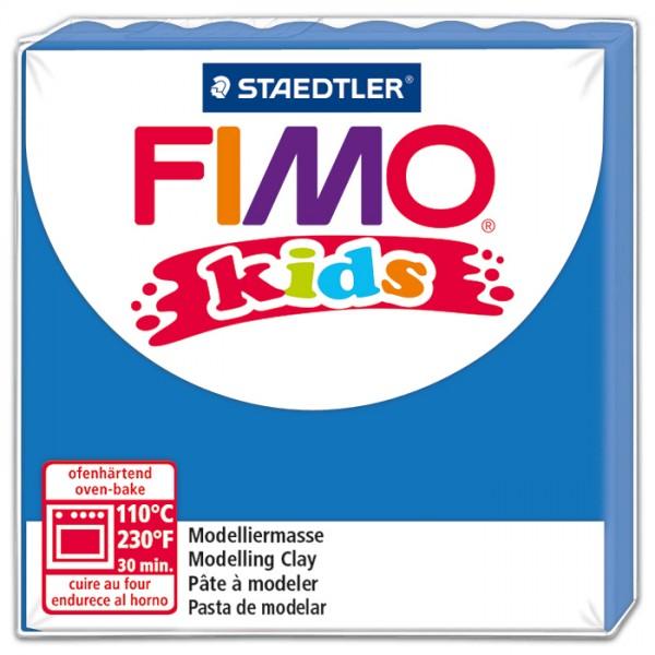 FIMO kids 55x55x10mm 42g blau ofenhärtende Modelliermasse