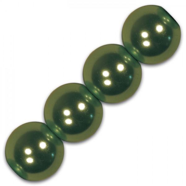 Wachsperlen 4mm 100 St. grün Kunststoff, Lochgr. ca. 0,9mm
