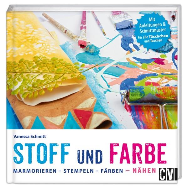 Buch - Stoff und Farbe: Marmorieren-Stempeln-Färben 80 Seiten, 23x23cm, Hardcover