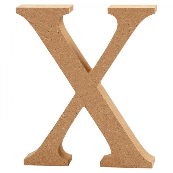 Buchstabe X MDF ca. 80x130x20mm