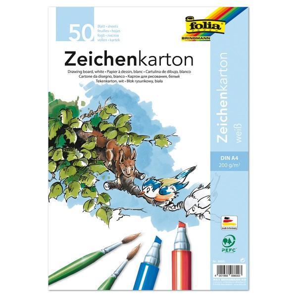 Zeichenkarton 200g/m² DIN A4 50 Bl. weiß