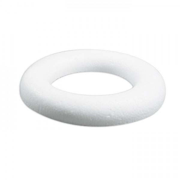 Styropor-Ring weiß flach Ø 15cm