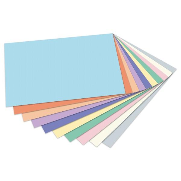 Tonpapier pastell DIN A4 100 Bl. 10 Farben 130g/m²