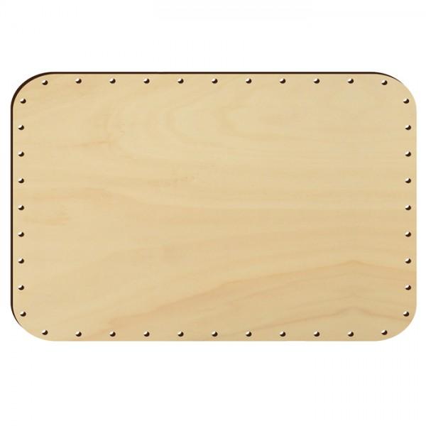 Korbflechtboden Holz 6mm 30x20cm Rechteck natur 45 Bohrungen 3mm