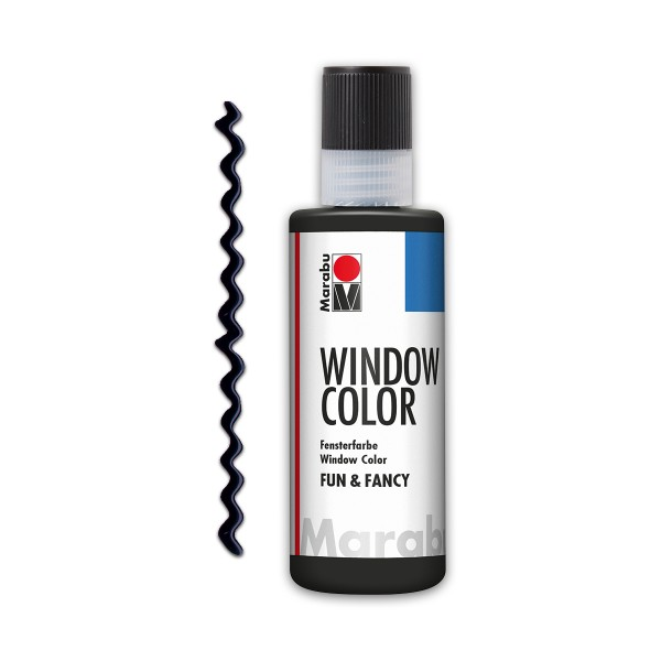 Marabu fun&fancy 80ml Konturschwarz soft Windowcolor