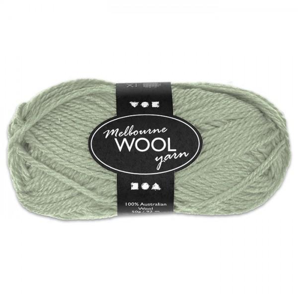 Garn Melbourne Filzwolle 50g hellgrün 100% Wolle, LL 92m, Nadel Nr. 4